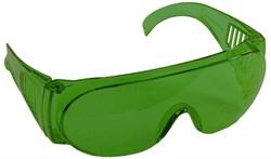 """Очки STAYER """"STANDARD"""" защитные, поликарбонатная монолинза с боковой вентиляцией, зеленые - фото 11791"""