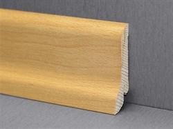 Плинтус напольный хвойных пород 50x12мм, цельный, сапожок - фото 13411