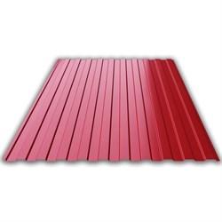 Профнастил/профиль листовой, стальной, С-8, 1.2x1.5м, толщина 0.35мм, окрашенный Вишня RAL 3005 - фото 14073
