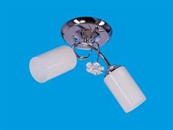 Люстра подвесная 2-рожковая 1984/2CR WT, длина 410мм, 2x40W, хром, белый - фото 14669