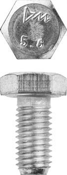 Болт с шестигранной головкой оцинкованный М6х70 - фото 15085
