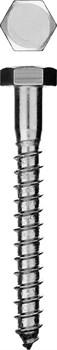 Шуруп глухарь (болт сантехнический) с шестигранной головкой оцинкованный 6х40мм - фото 15148