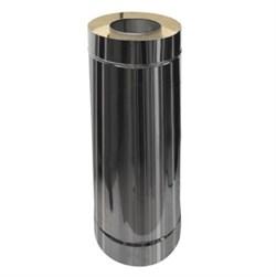 Сэндвич - труба оцинкованная + нержавеющая сталь (0.5мм) длина 0.5м диаметр 200*150 - фото 20555