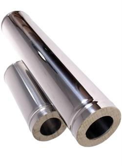 Сэндвич - труба оцинкованная + нержавеющая сталь (0.5мм) длина 1м диаметр 200*110 - фото 20556