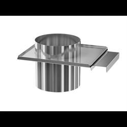Задвижка ( шибер нержавеющая сталь 0.5мм) диаметр 100 - фото 20567