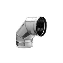 Колено нержавеющая сталь (0,5мм)  диаметр 120, угол 90* - фото 20592