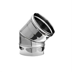 Колено нержавеющая сталь (0,5мм)  диаметр 120, угол 135* - фото 20593