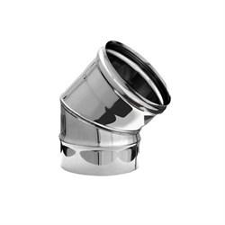 Колено нержавеющая сталь (0,5мм)  диаметр 130, угол 135* - фото 20594