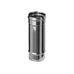 Труба длиа 0,5м (нержавеющая сталь 0,5мм) диаметр 100 - фото 20611