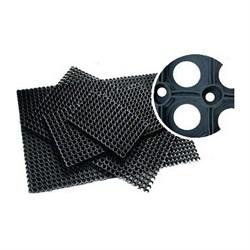 Коврик ячеистый грязесборный RH 100*150 см, 16мм, черный - фото 21483