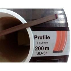 Уплотнитель KIM TEC для окон и дверей, профиль SD-31А/4, Коричневый, 8x2мм, самоклеящийся, упаковка 200м (на метраж) - фото 26958