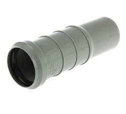 Патрубок компенсационный, 50мм, для внутренней канализации, серый - фото 32205