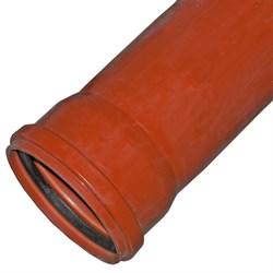Труба канализационная 110x1000мм, наружная, НПВХ, оранжевая - фото 33071