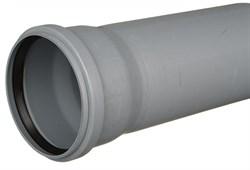 Труба канализационная 110x2.2x1000мм, внутренняя, полипропиленовая, серая - фото 33081