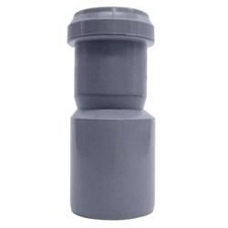 Патрубок переходный эксцентрический, диаметр 32x40мм, для внутренней канализации, полипропиленовый, серый - фото 33098