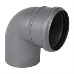 Отвод канализационный 110мм 87 градусов, внутренний, полипропиленовый, серый - фото 33109