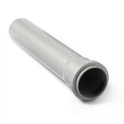 Труба канализационная 50x1.8x1500мм, внутренняя, полипропиленовая, серая - фото 6747