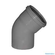 Отвод канализационный 110мм 67 градусов, внутренний, полипропиленовый, серый - фото 6762