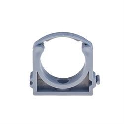Крепление (хомут) 50 мм, для крепления труб внутренней канализации, полипропиленовый, серый - фото 6792