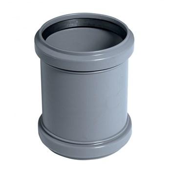 Муфта проходная канализационная, диаметр 50мм, полипропилен, серый - фото 6794