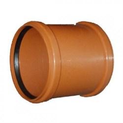 Муфта канализационная, 110мм, наружная, полипропиленовая, оранжевая - фото 6806