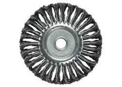 Щетка для УШМ 125 мм, посадка 22,2 мм, плоская, крученая металлическая проволока MATRIX
