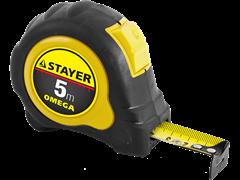 Рулетка  STAYER MASTER OMEGA, обрезиненный корпус, 5 м*25 мм