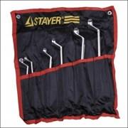 Набор STAYER 27151-H6 Ключи МАСТЕР накидные изогнутые, Cr-V, 6-22 мм, 6 предметов