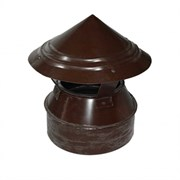 Флюгарка п/э коричневая д.150мм (8017)