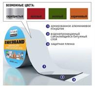 Лента-герметик самоклеящаяся и гидроизолирующая битумно-полимерная NICOBAND, 15смx3м, цвета: коричневый, зеленый, красный