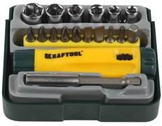 Набор бит KRAFTOOL отвертка ревер. с битами и адапт.,торцев.головками18 предметов