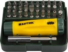 Набор бит KRAFTOOL отвертка ревер. с битами и адаптором 32 предмета
