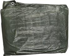 Тент-полотно STAYER PROFI, из тканого полимера высокой плотности 90г/м3, с люверсами, водонепроницаемый, 4х5м, синий/зеленый