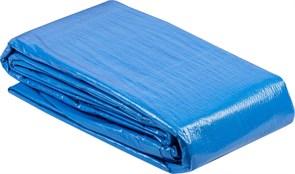 Тент-полотно ЗУБР МАСТЕР универсальный, из тканого полимера плотностью 75г/м3, с люверсами, водонепроницаемый, 6х8м, синий