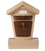 Ящик почтовый Элит, 490x320мм, пластиковый, бежевый с коричневым, с замком