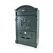 Ящик почтовый №4010 (4), 405x255мм, темно-зеленый, с замком