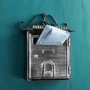 Ящик почтовый №2005 (10), 220x348мм, старое серебро, с замком