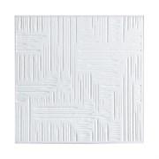 Плитка  потолочная прессованная Лагом 516, 50x50cм, белая, упаковка 8шт. (2м2)