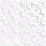 Плитка  потолочная прессованная Лагом 710, 50x50cм, белая, упаковка 8шт. (2м2)