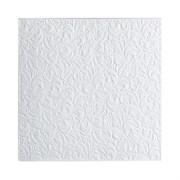 Плитка  потолочная прессованная Лагом 802, 50x50cм, белая, упаковка 8шт. (2м2)