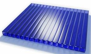 Сотовый поликарбонат Синий  4*2100*12000 ( 12 метров), на метраж, цена за метр