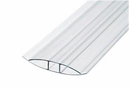 Профиль соединительный для поликарбоната Н-образный, 4-6ммx6м, прозрачный