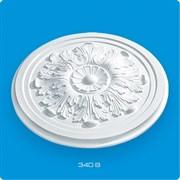 Розетка потолочная Лагом Формат Р340В, диаметр 340мм, инжекционный пенополистирол, белая