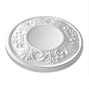 Розетка потолочная Лагом Формат Ф200-2, диаметр 200мм, инжекционный пенополистирол, белая