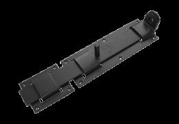 Засов плоский с проушиной ЗПП-350 (черный)