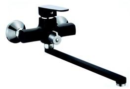 Смеситель для ванны RAINSBERG 0263F-1,  длинный излив, однорычажный, силумин, черный