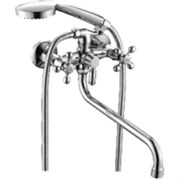 Смеситель для ванны 6023F RAINSBERG, двуручный, длинный поворотный излив