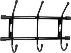 Вешалка настенная Nika ВН3, 284x188мм, 3 крючка, металл, черная