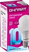 Лампа светодиод. ОНЛАЙТ 71 650 ОLL-A60-10-230-4K-E27