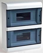 Бокс ОП на 18 модулей Белый с дверкой Рувинил 68018